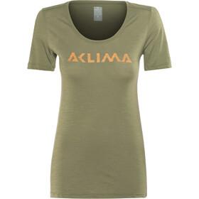Aclima LightWool LOGO T-Shirt Damen ranger green